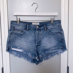 We the Free Frayed Hem Jean Shorts